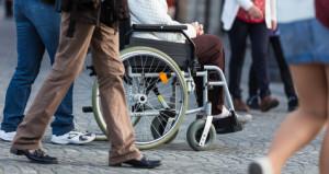 En rullstolsanvändare