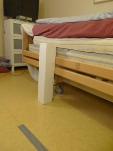 Markering för sänghöjd