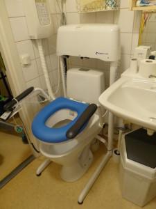 Självspolande toalett